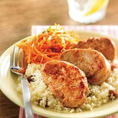 Médaillons de porc aux épices et salade de carottes