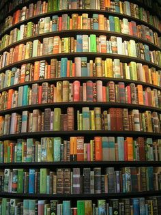 Oval book wall!  I want one.