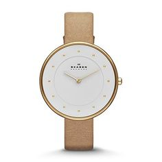I've got this watch and the compliments keep coming! Skagen Klassik Women's Two-Hand Leather Watch - Sand SKW2137 | SKAGEN®