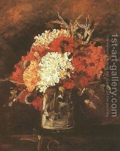 Vase With Carnations II Vincent Van Gogh Reproduction | 1st Art Gallery