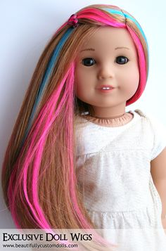 Exclusive Doll Wigs for Custom American Girl Dolls