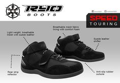 Your perfect touring partner this summer!  The RYO SPEED touring shoes is a low cut riding shoes made of lightweight mesh and suede leather that offers comfort and flexibility equipped with all the proper front and rear protection needed for those long weekend trips! Weekend Trips, Long Weekend, Motorcycle Riding Boots, Mesh Fabric, Suede Leather, Touring, Flexibility, Sneakers Nike, Summer