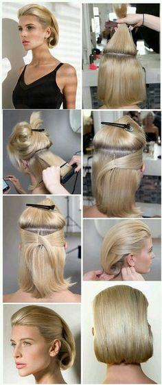 elegant hairstyles How To Do. elegant hairstyles For Party Elegant Hairstyles, Messy Hairstyles, Wedding Hairstyles, Corte Y Color, Half Updo, Hair Dos, Hair Designs, Hair Lengths, New Hair