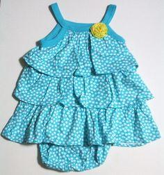 Carters Baby Girls Kids Infant Ruffle Tiered Dress Set Children Clothes Sz 9M