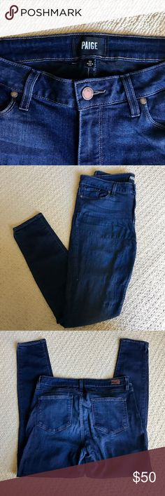 Paige Jeans 👖 The best jeans I've ever worn! Paige denim has a soft luxurious feel that hugs your curves in all the right places! Worn only a handful of times, I hate to part with these jeans but I can't wear demin to work anymore so they deserve to go to a good home! Paige Jeans Jeans Skinny