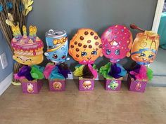 Each Shopkins CenterPiece Wood and vinyl by My2Angels1 on Etsy