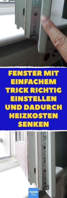 2 x jährlich drehen: Fenster-Trick spart Geld und Energie Fenst. Turn twice a year: Window trick saves money and energy and Tricks Correctly adjust windows with a simple trick and thereby reduce heating costs. Saving Money Quotes, Money Saving Tips, Tips And Tricks, Money Plan, Money Tips, Whatsapp Tricks, Savings Planner, Budget Planer, Money Saving Challenge