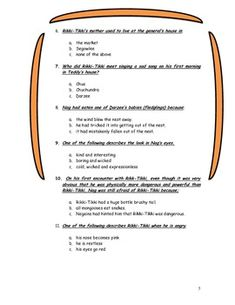 Printables Rikki Tikki Tavi Worksheets rikki tikki tavi quiz parcc based assessment the shorts and is a short story that was written by rudyard kipling this material can be used as worksheet reading quiz