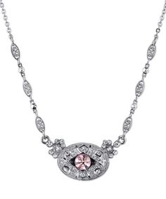 Another great find on #zulily! Silvertone & Light Purple Crystal Necklace #zulilyfinds