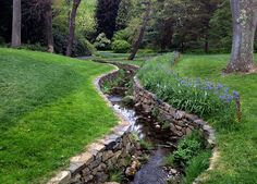 Wish we could do something like this with our creek bank...at least one side of it :)