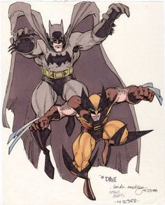 Batman & Wolverie by Art Adams