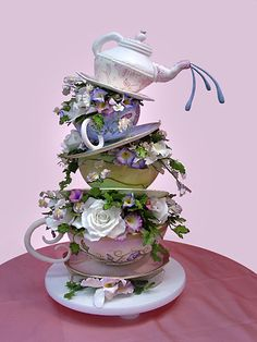 this is a cake. this would be perfect for your alice in wonderland wedding @Dacia Snider Drew