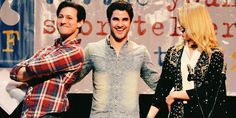 """Dianna Agron, Darren Criss and Curt Mega perform at the Young Storytellers """"Glee's Big Show"""" on February 22nd, 2014"""