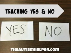 Answering Yes and No Questions {Verbal & Nonverbal Procedures