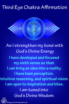 Third Eye Chakra Affirmation https://www.etsy.com/listing/209760710/7-chakra-affirmation-cards-with-daily?ref=shop_home_feat_2