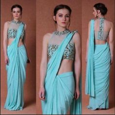Saree Draping Styles, Drape Sarees, Saree Styles, Netted Blouse Designs, Bridal Blouse Designs, Simple Blouse Pattern, Indian Fashion Trends, Designer Blouse Patterns, Stylish Sarees