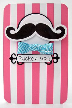 mustache card...love the bow tie