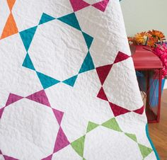 Boundless Solids Fabric & Crown Jewels By Amy Gibson Pattern Quilt Kit - None