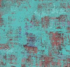 Turquoise Over Brick Red