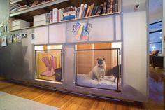 built-in dog crates