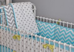 baby boy bedding...love the color and design combo