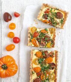 Recette de Tarte aux tomates multicolores