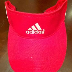 BRAND NEW ADIDAS SUN VISOR Hot Red!!!! Really cute Adidas sun visor. It's adjustable as well.  great buy!!! Adidas Accessories Hats