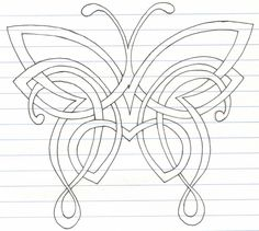 Celtic Butterfly by darkartmind.deviantart.com on @deviantART