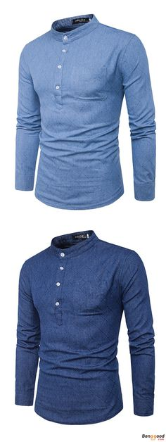 US$21.68 + Free Shipping. Brief Style Shirts, Buttons Shirts, Denim Shirts, T-shirt Men's Casual Shirts, Mandarin Collar Shirts, Long Sleeve Tops. Color: Light Blue, Dark Blue. US Size: M - 2XL. >>> To View Further, Visit Now.