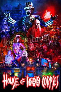 House of 1000 Corpses 11X17 Signed by Joel by artpushernet on Etsy