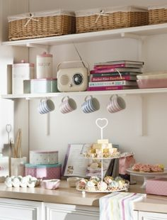 Use the tops of wall units for kitchen storage