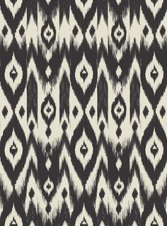 Black Cream Tribal Ikat Art Print - Bohemian Gypsy Jane