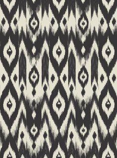 Black Cream Tribal Ikat Art Print - Bohemian Gypsy Jane