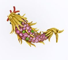 TIFFANY-CO-18K-GOLD-FISH-PIN-BROOCH-NAMED-SPECTACULAR-CATCHES-BY-SCHLUMBERGER..