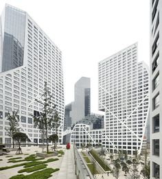Sliced Porosity Block / Steven Holl Architects, por Hufton + Crow / Chengdu, China