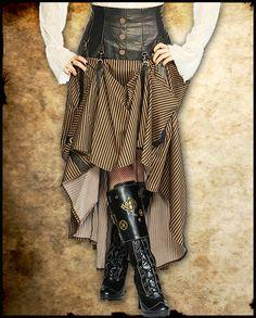 Steampunk Copper Adjustable Skirt £49.99
