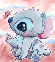 stichk - The Trend Disney Cartoon 2019 Cute Disney Drawings, Cute Animal Drawings, Kawaii Drawings, Cute Drawings, Drawing Disney, Disney Stitch, Disney Kunst, Disney Art, Walt Disney
