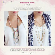 Style Guide: Layering  Get the trending look at www.chloeandisabel.com/boutique.austinista  #fashion #style #global #boho #bohochic #shopping #retailtherapy #morocco #moroccan #lifetimeguarantee #jewelry #bracelet #earrings #ring #charms #charmnecklace #vintage #gifts #hypoallergenic #trending #parisian #french #seashore #beach #deco #modern