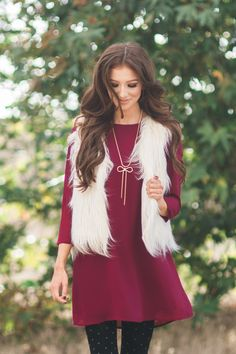 Fur vest, outerwear, Morning Lavender, fall staples, fall fashion, winter fashion, faux fur vest, Ivory vest, layering pieces