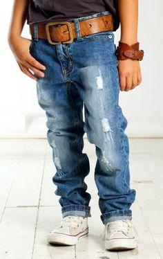 little boys belt & denim.. cute