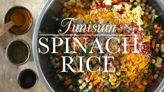 Spice up your fresh spinach with this wonderful vegetarian Tunisian rice dish.