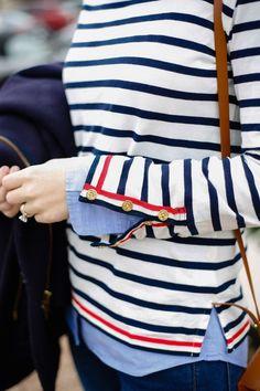 Classic navy stripe