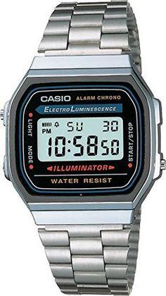 Casio Men's A168W-1 Stainless Steel Watch: BBQGuys: Watches