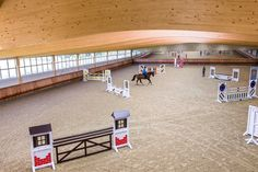 inside the riding arena Dream Stables, Dream Barn, Equestrian Stables, Horse Arena, Farm Layout, Indoor Arena, Dream Properties, Horse Stalls, Show Jumping