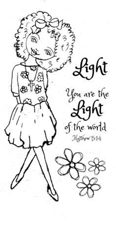 God's Girls  Acrylic Stamps-Light