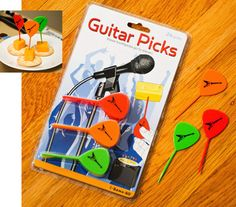 guitar picks for his bento lunches