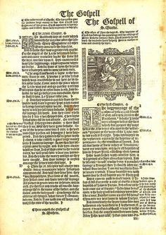 1537 Matthew-Tyndale Bible First Edition : Title to Mark