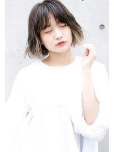ロジェ(LOJE) *LOJE* ハイトーンでさりげなく。チラ見せインナーカラー。 Cut Her Hair, Love Hair, Hair Cuts, Dip Dye Hair, Pretty Hair Color, Hair Images, Grunge Hair, Brown Hair Colors, Bad Hair