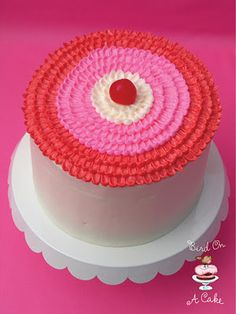 Bird On A Cake: Cherry Almond  Cake