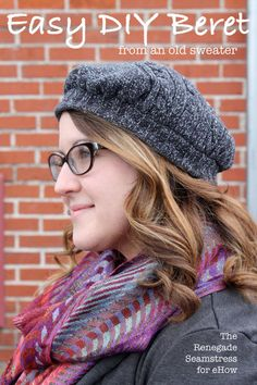 DIY: Upcycled Sweater Beret | eHow Crafts | eHow